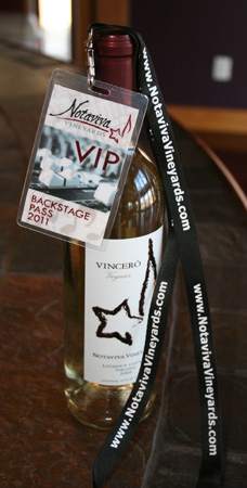 Notaviva Vineyards Backstage Pass VIP Club
