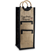 Notaviva Vineyards Host Your Own Wine Show - Together Forever Jute Bottle Bag with Coasters